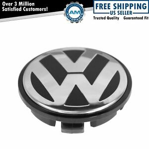 Oem Chrome Black 65mm Center Cap For Volkswagen Vw Golf Jetta Passat
