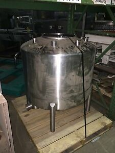 Htst Balance Tank Stainless Steel 75 gal Cap Dome Top Slant Bottom