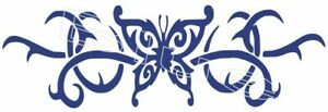 Butterfly Vinyl Graphic Car Decal Sticker Choice Of 10 Colors 2 Sizes