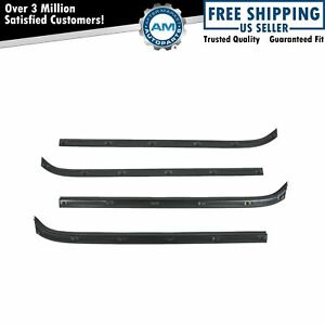 Inner Outer Belt Door Window Sweep Weatherstrip Rear Or Front For F100 F150
