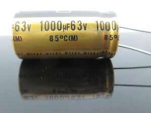Japan 16pc Nichicon Muse Fg fine Gold 1000uf 63v 1000mfd Audio Capacitor