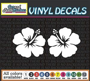 2 For 3 00 Hawaiian Hibiscus Flower Vinyl Car Decal Window Sticker Truck Wall