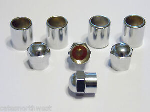 Set Of 4 Chrome Tire Valve Stem Sleeves And Caps Tr413