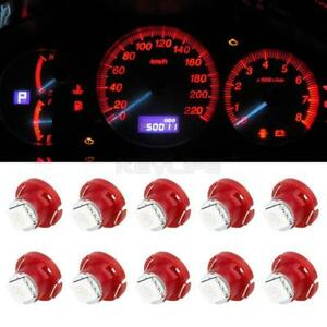 10pcs Red T5 T4 7 Neo Wedge Led Bulb Dash A C Climate Heater Controls Lights