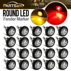 20x 3 4 Red amber Led Clearance Side Marker Lights Boats Trailer Pickup Clear