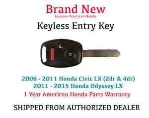 35111 sva 305 Genuine Oem Honda Civic Lx Keyless Remote Entry Key 2006 2011