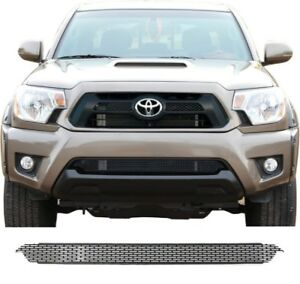 Ccg Flat Black Precut Mesh Grill For A 2012 15 Toyota Tacoma Bottom Grille Only