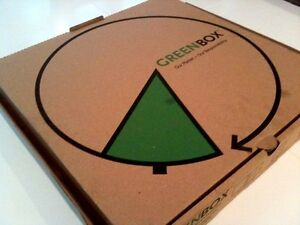 16 X 16 X 2 Greenbox Corrugated Pizza Box With Built in Plates 50 bundle