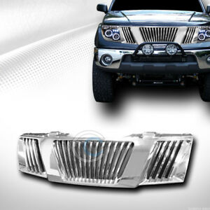 Fits 05 08 Nissan Frontier pathfinder Chrome Vertical Front Bumper Grill Grille