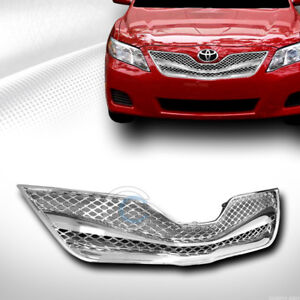 Fit 10 11 Toyota Camry Chrome Wire Mesh Front Hood Bumper Grill Grille Guard Abs