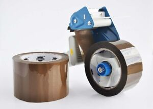 Tan brown Packing Packaging Tape 3 X 110 Yards 1 75 Mil 6 Rolls 3 Dispenser