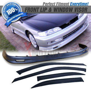 Fit 96 97 Accord 4dr Mugen Pp Front Bumper Lip Sun Window Visor