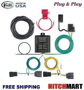 Curt Trailer Hitch Tow Wiring For 2008 2010 Dodge Grand Caravan 4 Way 56333