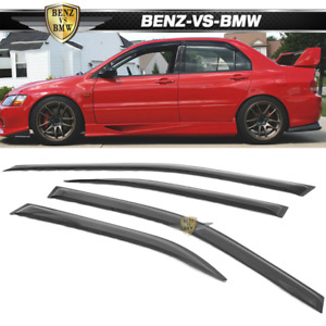 Fits 03 06 Mitsubishi Lancer Window Visors 4pc Set