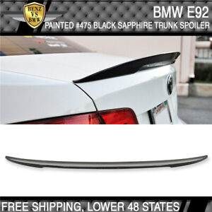 High Kick Trunk Spoiler 07 13 Bmw E92 P Sty 475 Black Sapphire Metallic Painted