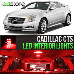 2008 2013 Cadillac Cts Red Interior Led Lights Kit Package