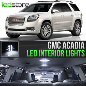 2007 2016 Gmc Acadia White Led Lights Interior Kit