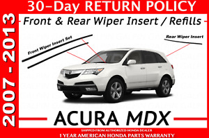 Genuine Oem Acura Mdx Wiper Insert Set Front And Rear 2007 2013