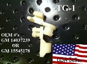 Chevy And Gmc Tailgate Handle Rod Clips 1981 To 1998 1 Pair Tg1