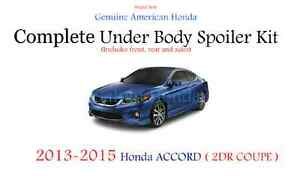 Genuine Oem Honda Accord 2dr Coupe Complete Under Body Spoiler Kit Silver Nh700m
