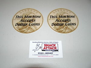 Snack Or Soda Vending Machine 2 Decals this Machine Accepts Dollar Coins