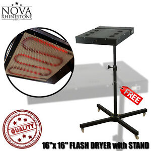Nvfd 16 16 x 16 Flash Dryer Silk Screen Printing With Stand