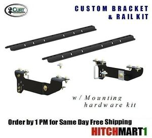 Curt 5th Wheel Hitch Custom Brackets Rails For 07 18 Silverado Sierra 1500
