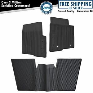 Oem Floor Mat All Weather Molded Vinyl Kit Set Of 3 For 10 14 Ford F150 Crew Cab