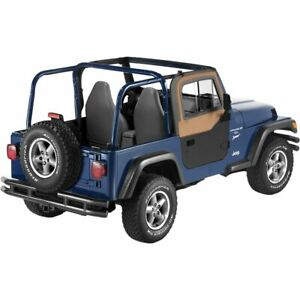Bestop Set Of 2 Soft Doors Front New For Jeep Wrangler 1997 2006 Pair 51787 37