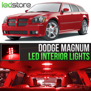 2005 2008 Dodge Magnum Red Interior Led Lights Kit Package