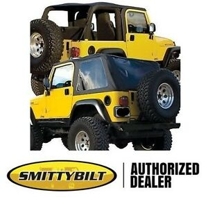 Smittybilt Bowless Combo Top Black Diamond Fits 97 06 Jeep Wrangler Tj 9973235