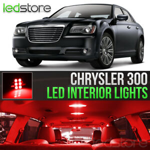 2011 2017 Chrysler 300 Red Interior Led Lights Kit Package