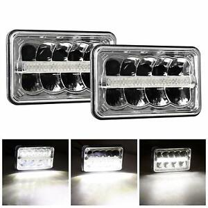 4x6 Led Headlight Sealed Beam Headlamp Replacement With High Low Beam Drl Led