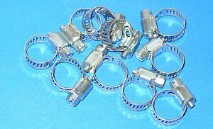 Stainless Steel Band Hose Clamp 1 4 5 8 Amgauge 4 Mini Clamps 10 Pieces