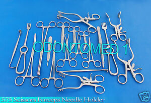 575 Scissors Forceps Needle Holder Towel Clamp Surgical Veterinary Instruments
