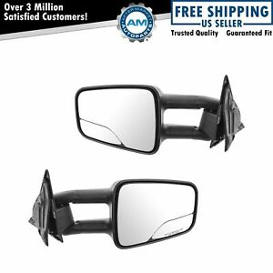 Towing Upgrade Mirror Manual Telescoping Pair For Chevy Gmc Isuzu Oldsmobile