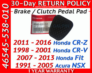 Genuine Oem Honda Brake Clutch Pedal Rubber Cover Manual Transmission