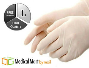 500 Latex Medical Exam Disposable Gloves Nitrile Free Large 5 Mil 5 Boxes