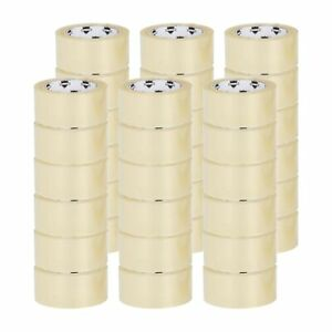 36 Rolls Clear Packing Packaging Carton Sealing Tape 2x100 Yards