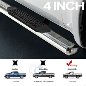 4 Ss Chrome Side Step Nerf Bars Running Board 99 18 Chevy Silverado Regul