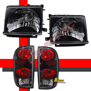 Black Headlights Tail Lights For 97 98 99 00 Toyota Tacoma 2wd 98 00 4wd