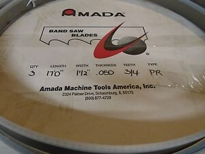 3 Count Lot amada Protector Band Saw Blade 17 X 1 1 2 X 050 Thick 3