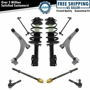 Front Struts Springs Lower Control Arms Tie Rod Ends Sway Bar Links 10 Pc Kit