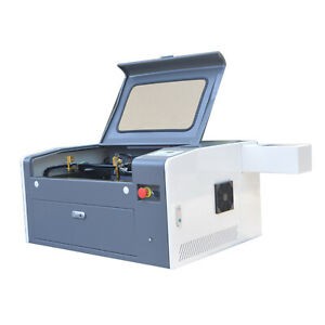 60w Co2 500x300mm Mini Laser Engraver Laser Engraving Cutting Cutter Usb Chiller