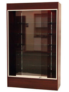 Cherry Color Wall Display Case Knocked Down Showcase sc wc4c