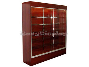 Cherry Color Wall Display Case Knocked Down Showcase sc wc6c