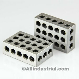 1 Matched Pair Ultra Precision 1 2 3 Blocks 23 Holes 0001 Machinist 123 Jig