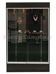 Black Color Wall Display Case Knocked Down Showcase sc wc4b