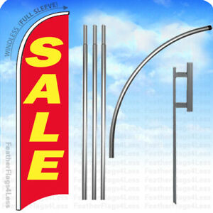 Sale Windless Swooper Flag 15 Kit Feather Banner Sign Rb