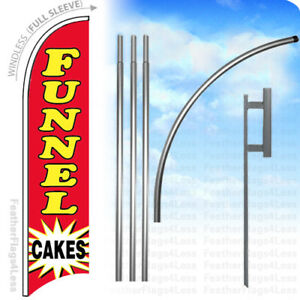 Funnel Cakes Windless Swooper Flag 15 Kit Feather Banner Sign Rb